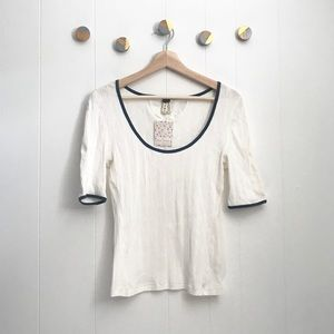 NEW Free People Long Drive Ribbed Tee   M